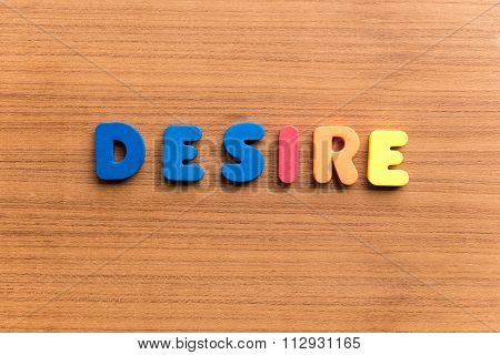 Desire Colorful Word