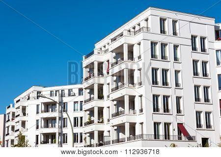 White modern condos in Berlin
