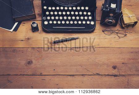 Retro typewriter hero header