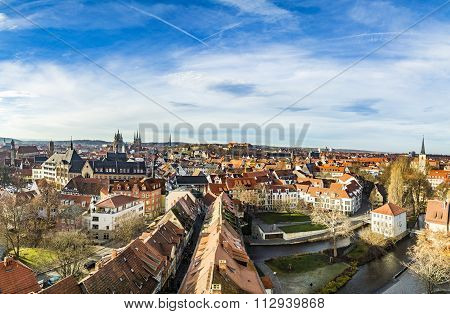 Skyline Of Old Town Of Erfurt, Germany