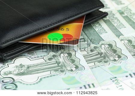 Credit Card In A Purse.