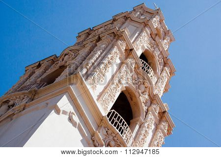 Bell Tower Of Mission Dolores In San Francisco, Usa