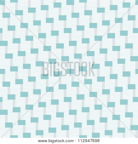 Abstract Seamless Striped Stair-step Pattern