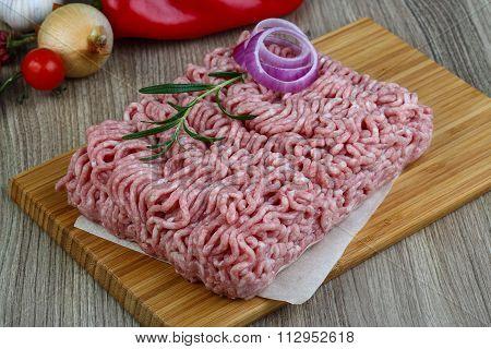 Raw Minced Pork Meat