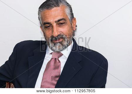Handsome Businessman In His Studio.