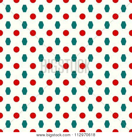 Circles And Polygons Seamless Pattern
