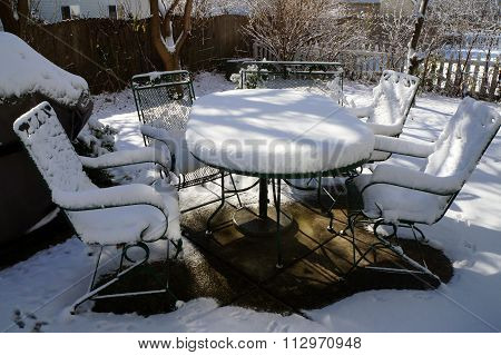 Snow Covers Outdoor Furniture