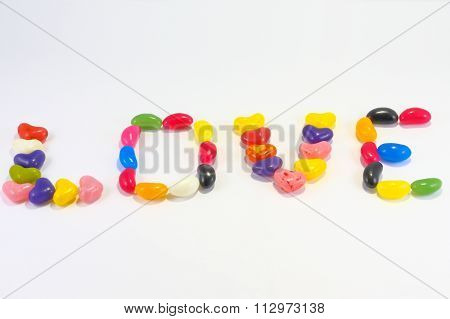 Assorted Candy Jellybean Love
