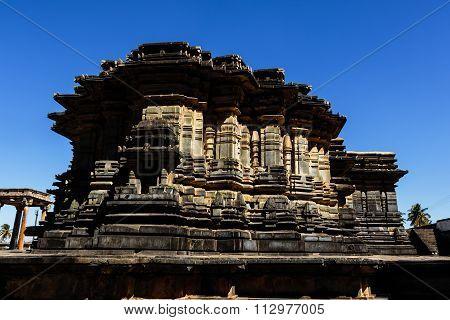 Artistic mandapa of Chennakesava temple at Belur, Karnataka captured on December 30th, 2015