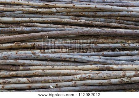 Lumber Pile At Construction Site