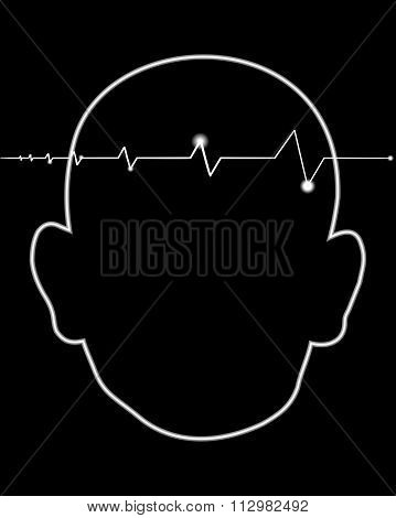 throbbing headache there is shown a beating heart with black background poster