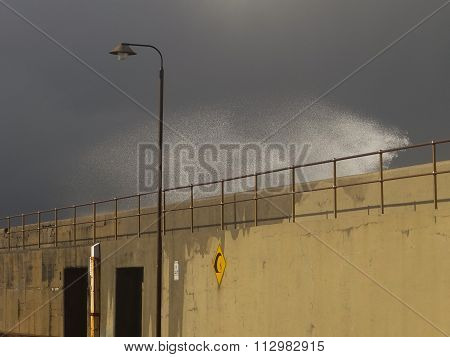 Sea Spray Trespassing Seawall