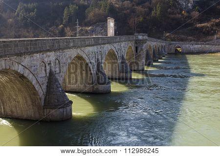 Old Bridge Over The River Drina