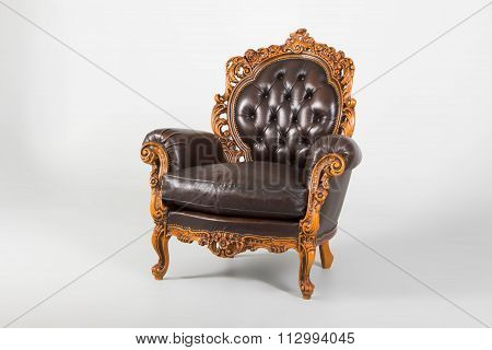 Antique Luxury Leather Armchair