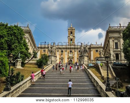 Stairway to Michelangelo - Capitoline Hill - Rome, Italy