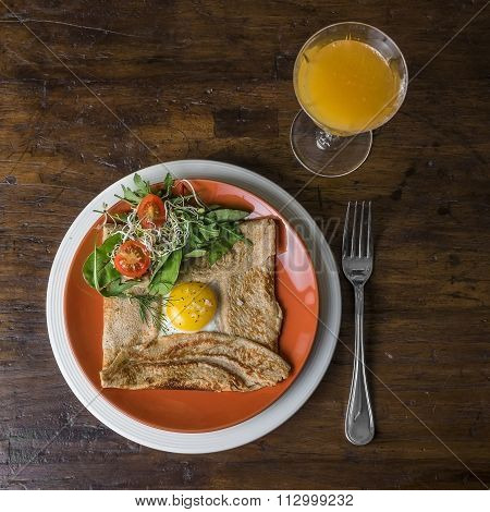 Crepes And Egg