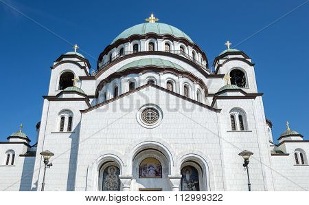 Church of Saint Sava in Belgrade city Serbia poster