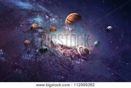 High resolution images presents creating planets of the solar system. This image elements furnished