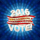 2016 USA presidential elections background. vector illustration poster
