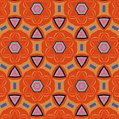 bright, attention-grabbing seamless pattern in the sixties style, flashy color poster