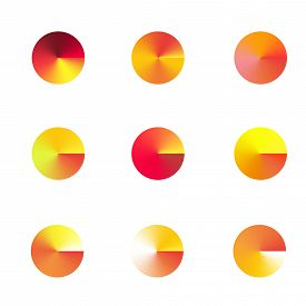Vector brightly colored yellow summer gradient circles