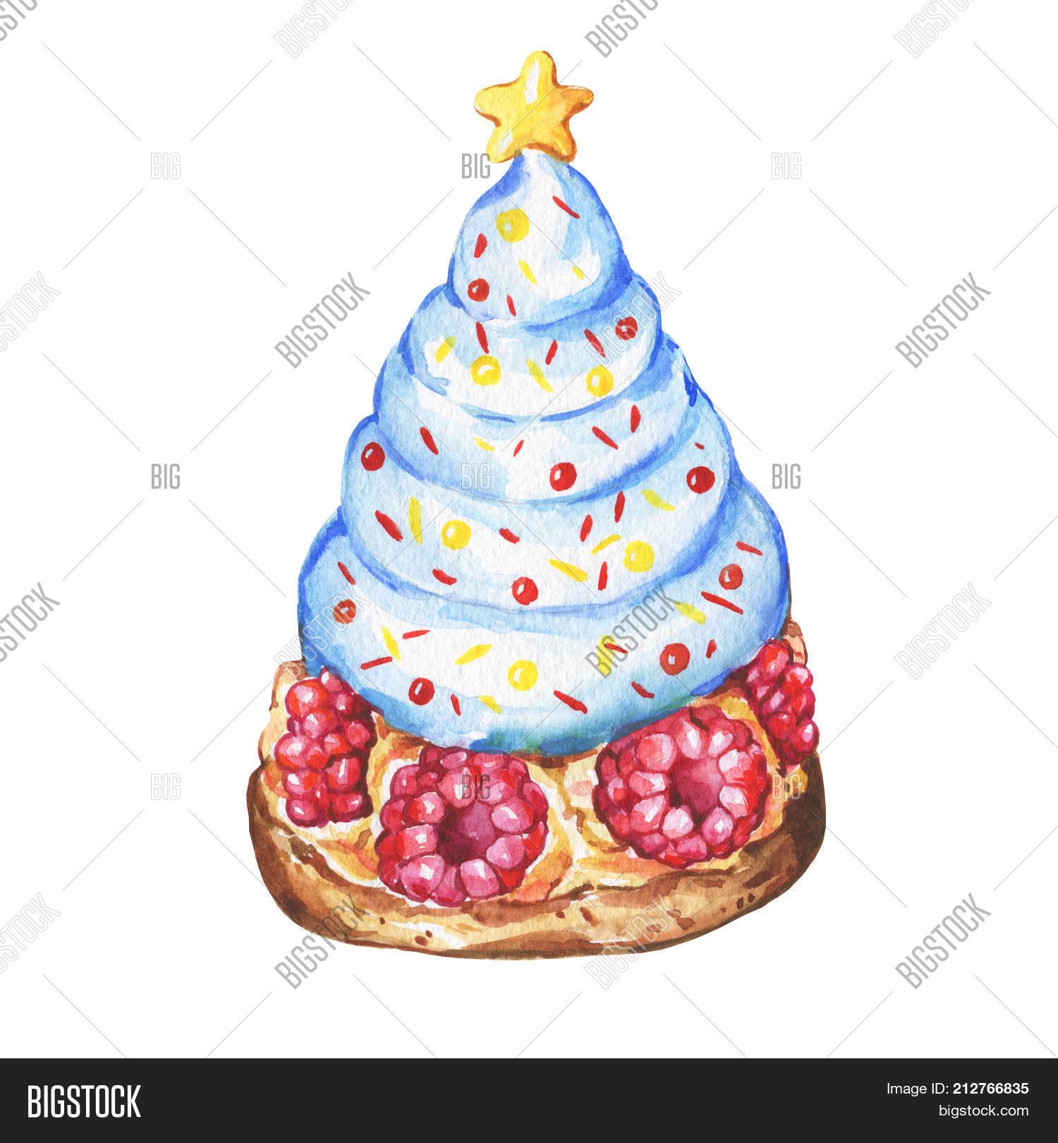 Blue Cupcake Christmas Image Photo Free Trial Bigstock
