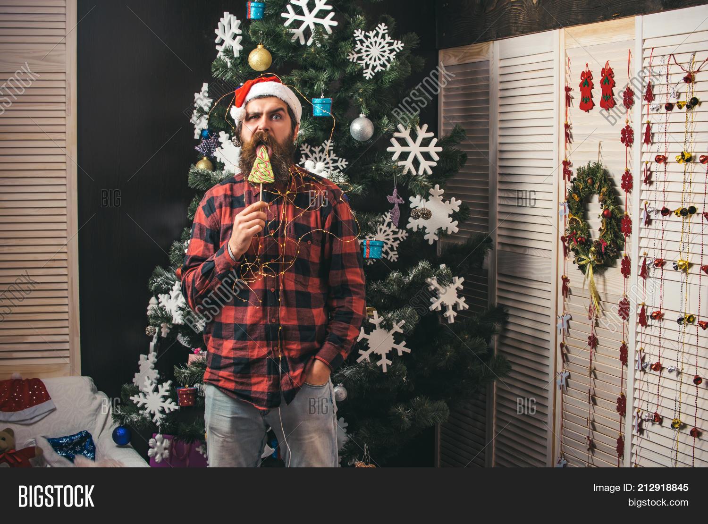 Xmas guy with a lollipop