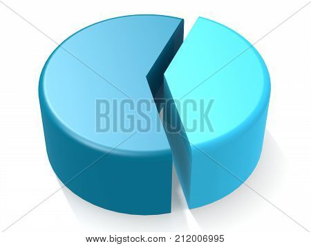 Blue Pie Chart With 40 Percent