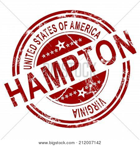 Hampton Virginia Stamp With White Background