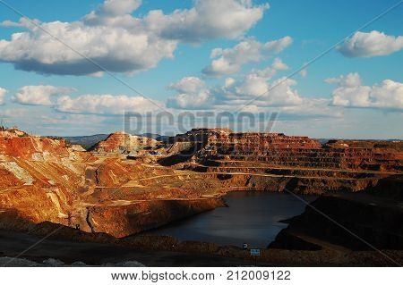 Minas de hierro en Rio Tinto, Huelva