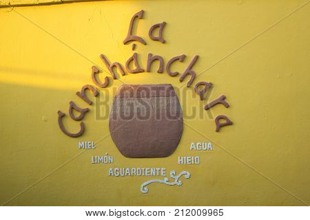 TRINIDAD,CUBA-DECEMBER 13,2016: Scene of La Canchanchara a traditional and famous tourist bar in the colonial city.