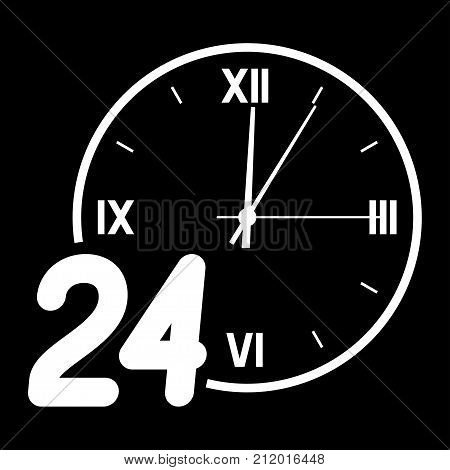 Number 24 on the background of the dial with the arrows.