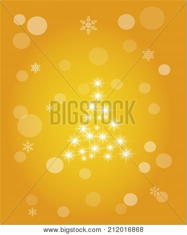Christmas abstract background of crystal snowflakes bright twinkling stars highlights and sparkles. Vector illustration