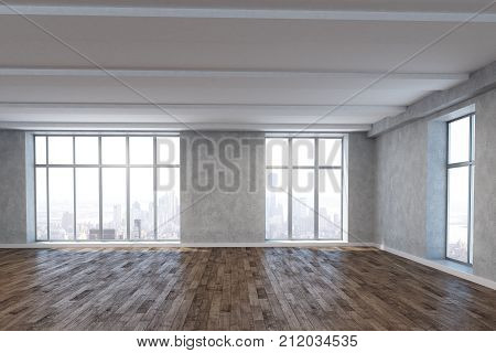 Bright Room With Empty Wall