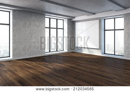Modern Room With Empty Billboard