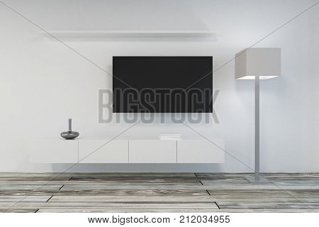 Contemporary Living Room With Empty Tv