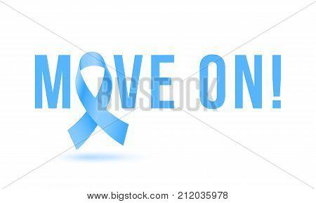 Movember Men Health Man Prostate Cancer Awareness November Month Vector Blue Ribbon