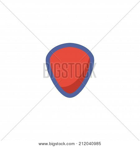 Flat Icon Shield Element. Vector Illustration Of Flat Icon Protection Isolated On Clean Background