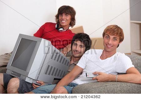 portrait of 3 flatmates