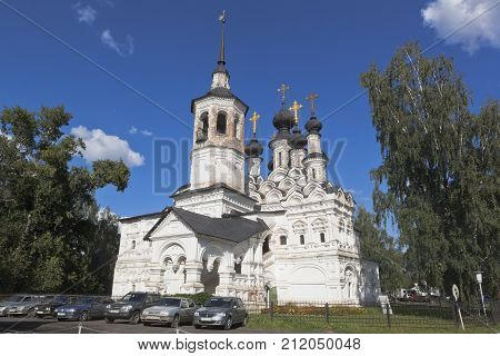 Veliky Ustyug, Vologda region, Russia - August 11, 2016: Church of the Ascension of the Lord for sale in Veliky Ustyug, Vologda region