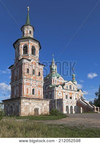 Belltower with the church of Simeon Stylites in Veliky Ustyug, Vologda region, Russia