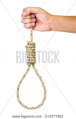 Hand Holding A Noose Rope