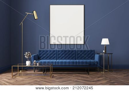 Blue Living Room, Blue Sofa, Poster