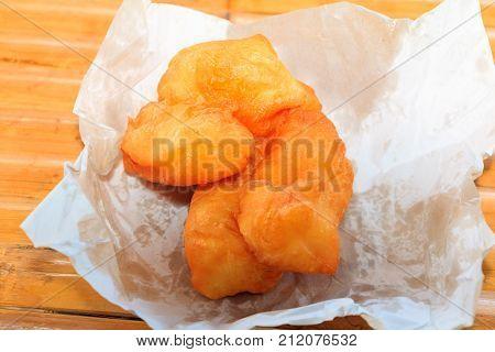 deep fried dough stick on paper breakfast food China
