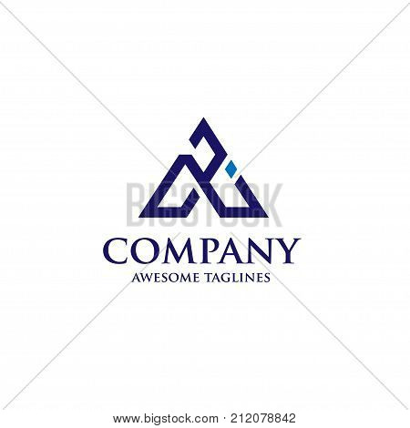 AI letter logo design vector illustration template, A letter logo vector, letter A and I logo vector, creative Letter AI letter logo