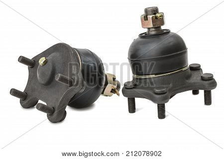 spherical support of a suspension bracket of the car it is isolated on a white background