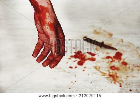 Crime Scene Murder Victim Hand