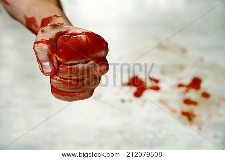 Fists With Blood.