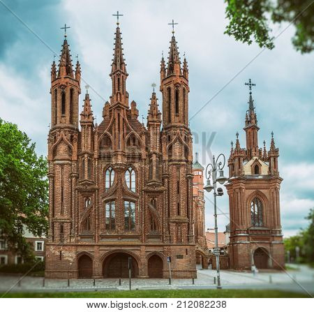 St. Anne's Church.Vilnius. Lithuania. 2016.06.11