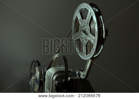 Coil With 16 Mm Film On The Projector.